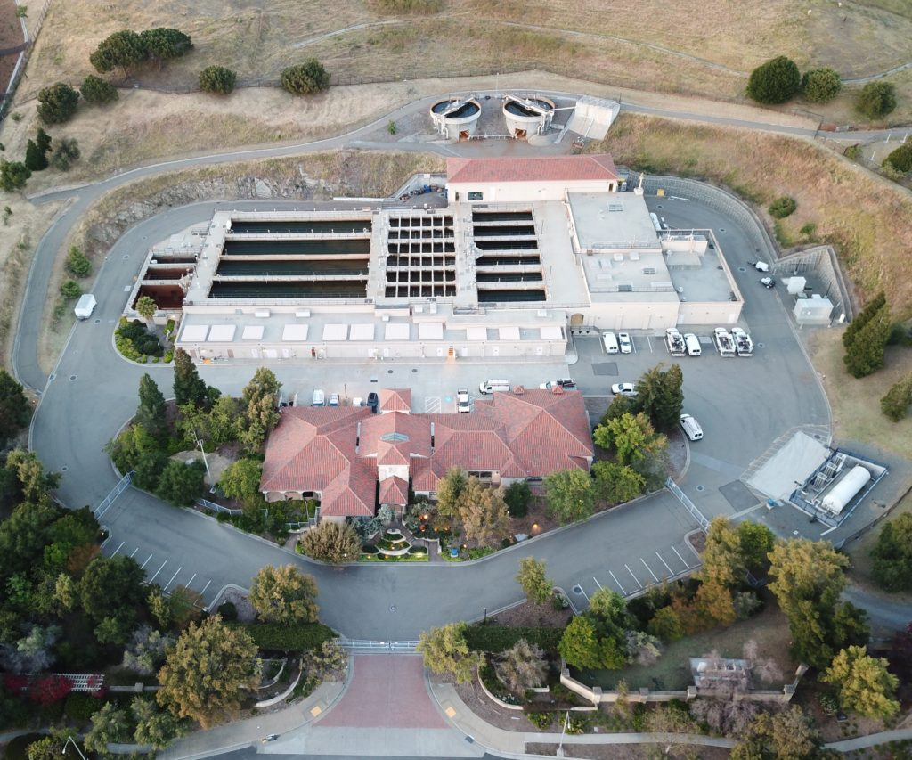 aerial photo of Water Treatment Plant Number 2