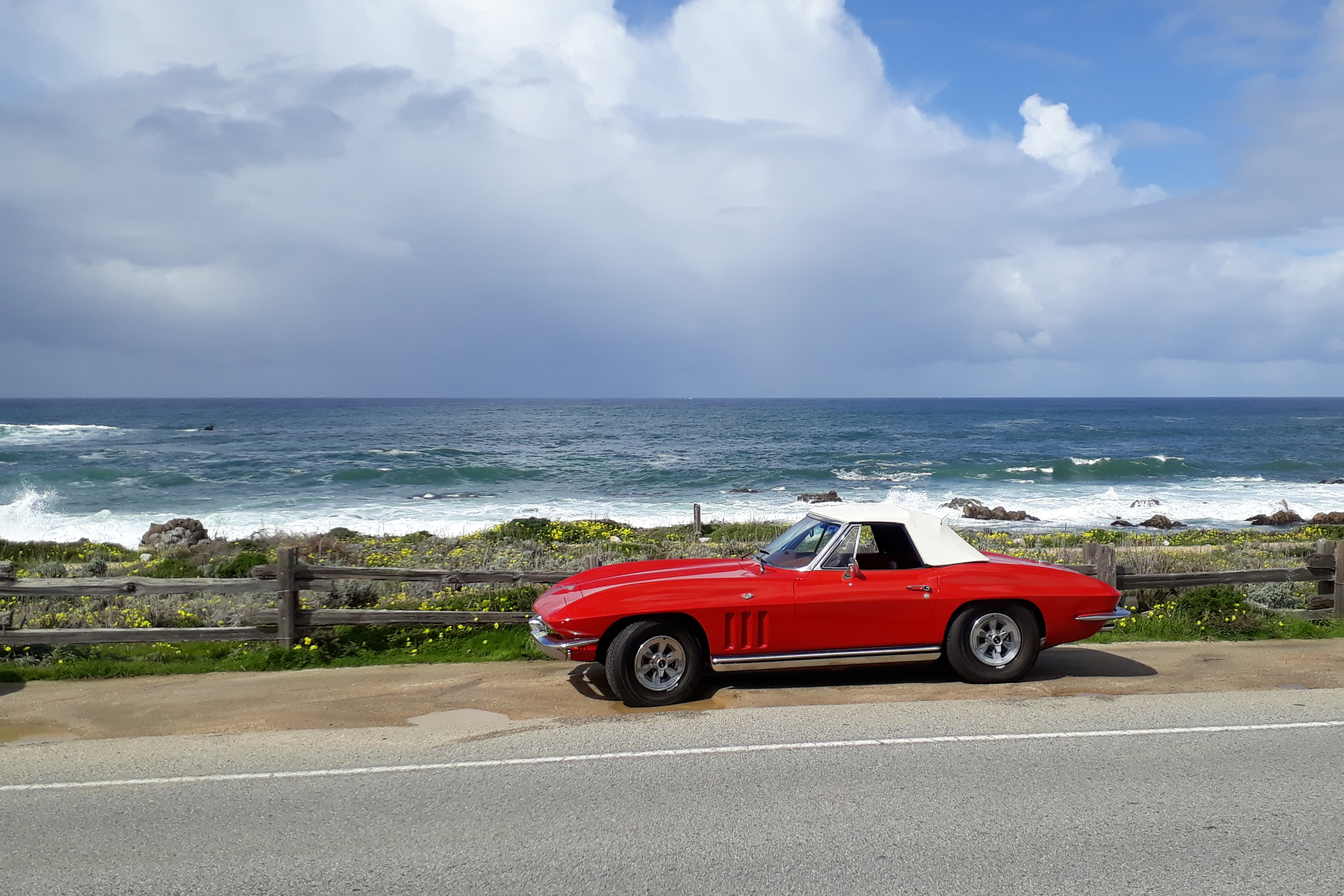 Corvette at the Beach